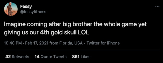 fessy shafaat tweets about devin walker obsession with big brother