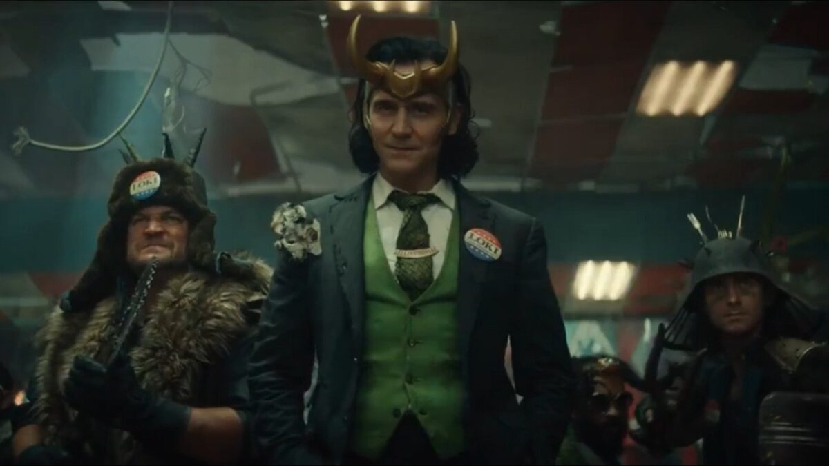 Tom Hiddleston as Loki.