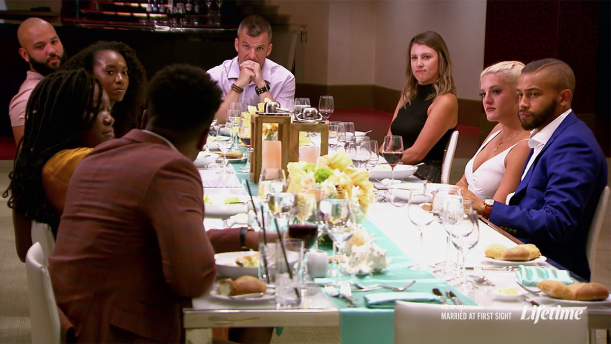 Married at First Sight Chris Williams apologizing to group and Paige on honeymoon