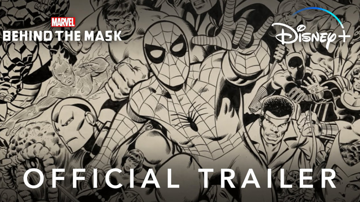 Marvel's Behind The Mask trailer poster.