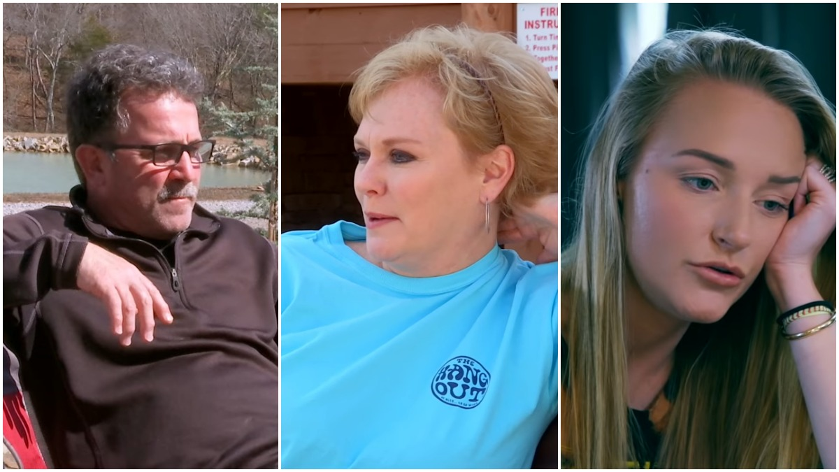 Jen Edwards, Larry Edwards and Maci Bookout during an episode of Teen Mom OG