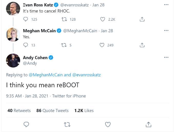 Andy Cohen hints at RHOC reboot.