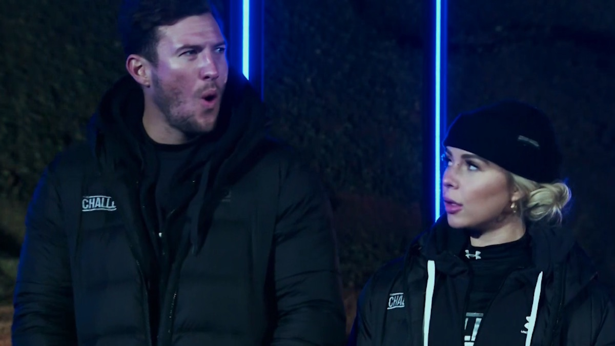 devin walker and gabby allen in the challenge double agents episode 12