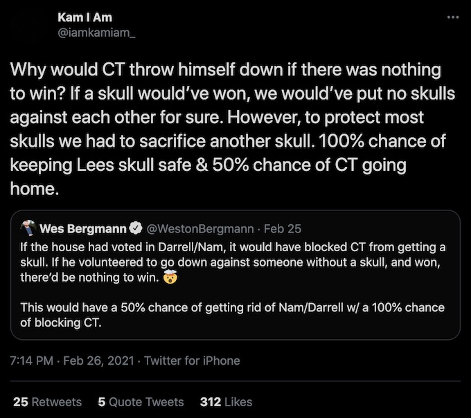 the challenge kam williams replies to wes voting strategy tweet