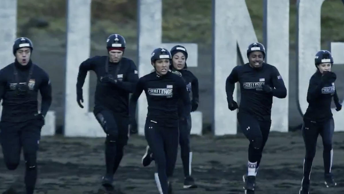 competitors race during the challenge double agents mission