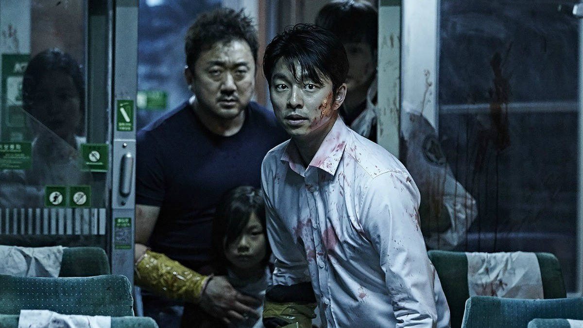 A movie still from the original Train to Busan.