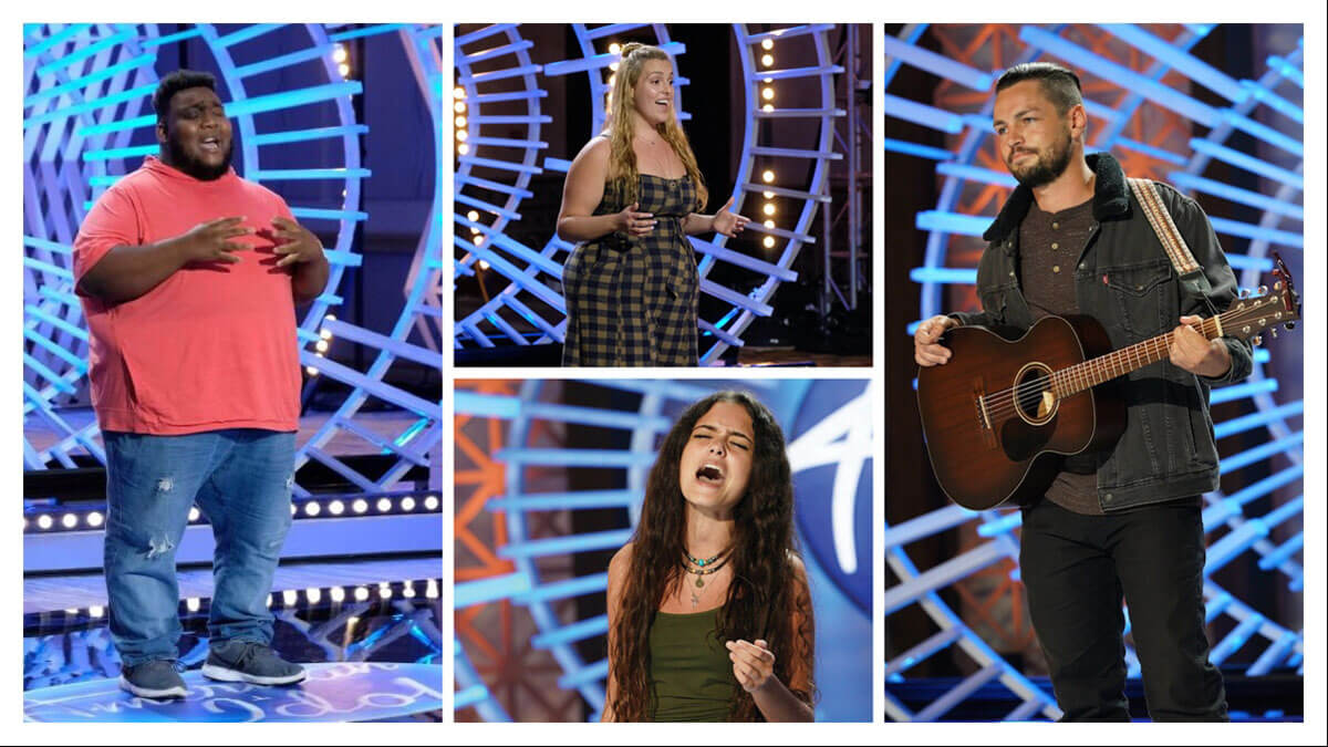 American Idol 2021 contestants Willie Spence, Grace Kinstler, Casey Bishop, and Chayce Beckham