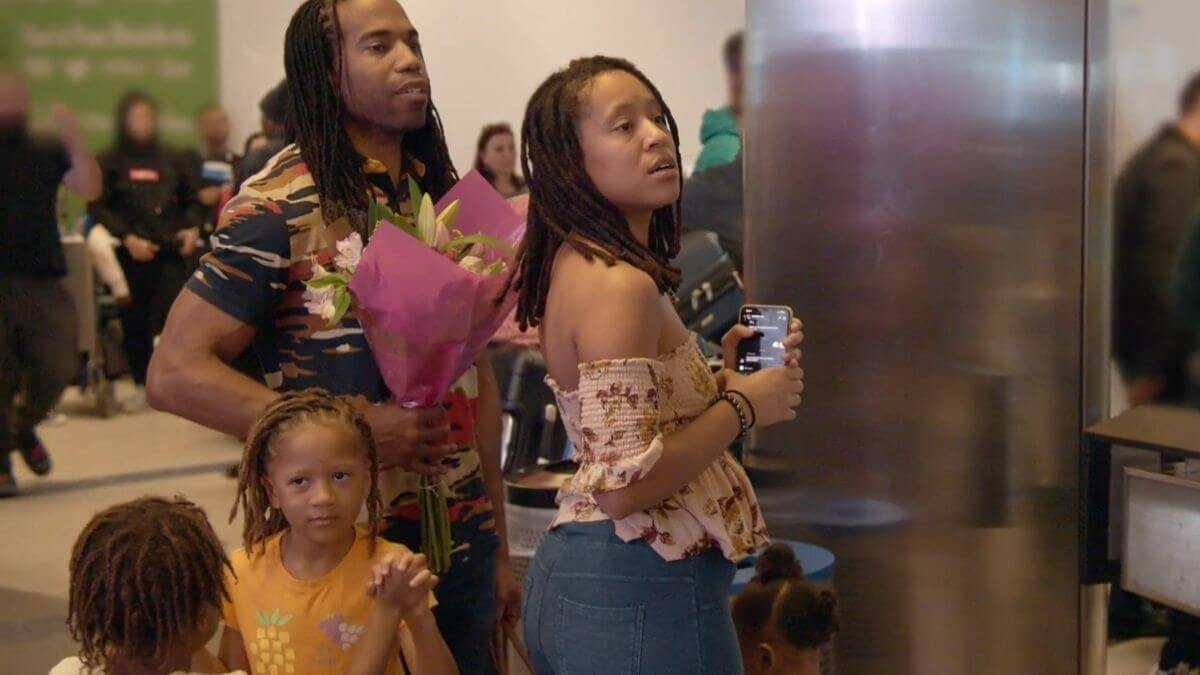Ashley Snowden of Seeking Sister Wife with husband Dimitri and their children
