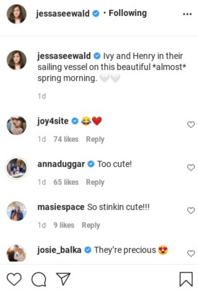 Comments from Jessa Duggar's IG post.