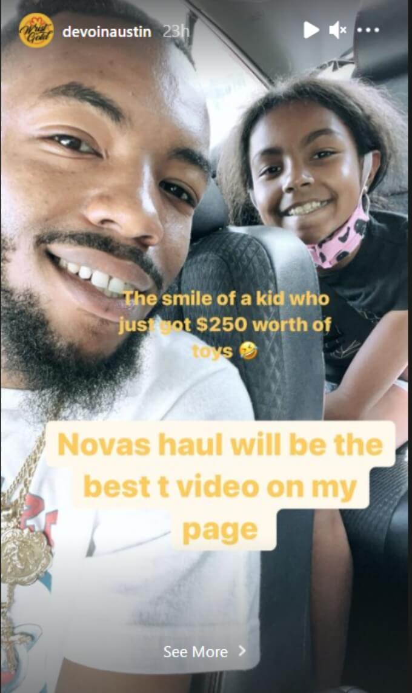 Devoin Austin and Nova DeJesus of Teen Mom 2 on Instagram