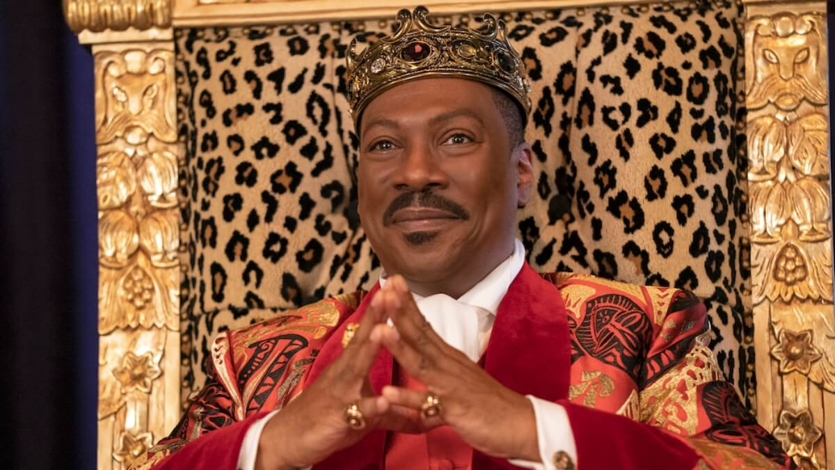Eddie Murphy as Prince Akeem in Coming 2 America.