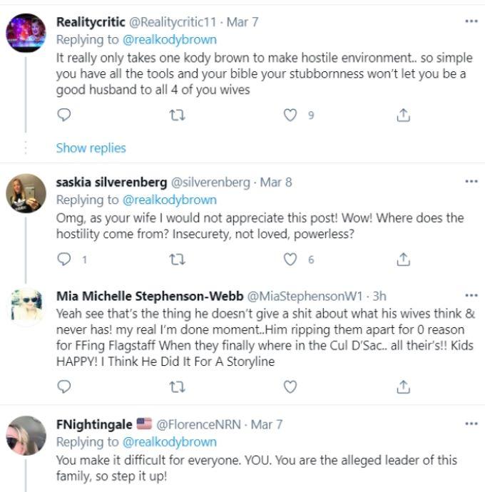 Screenshot from Kody Brown's Twitter.
