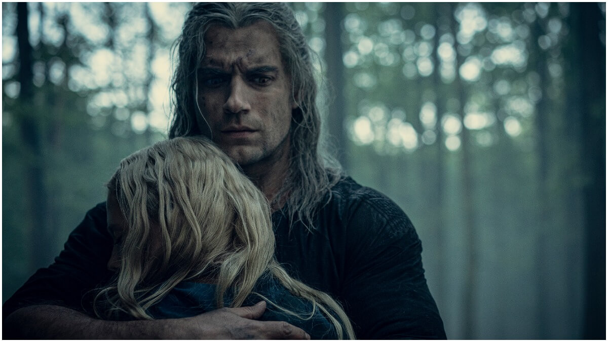 Freya Allan as Ciri and Henry Cavill as Geralt of Rivia, as seen in Season 1 of Netflix's The Witcher