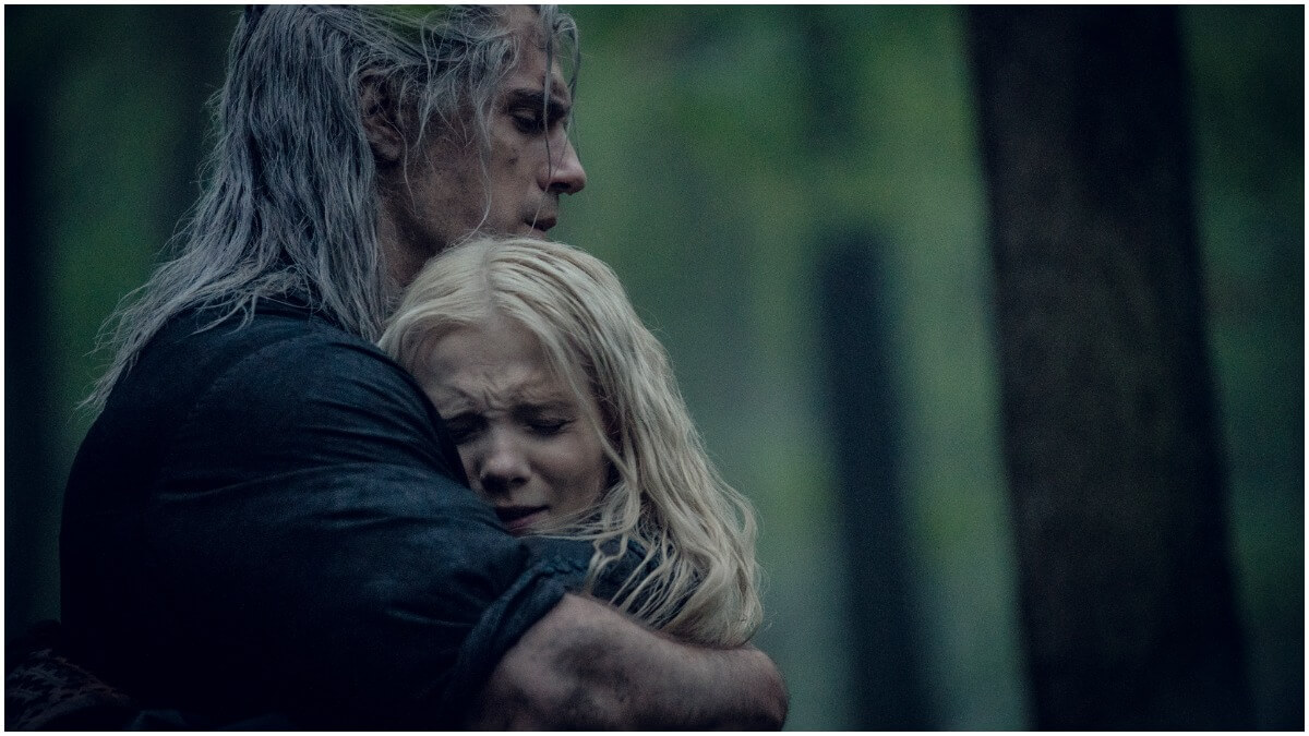 Henry Cavill as Geralt of Rivia and Freya Allan as Ciri, as seen in Season 1 of Netflix's The Witcher