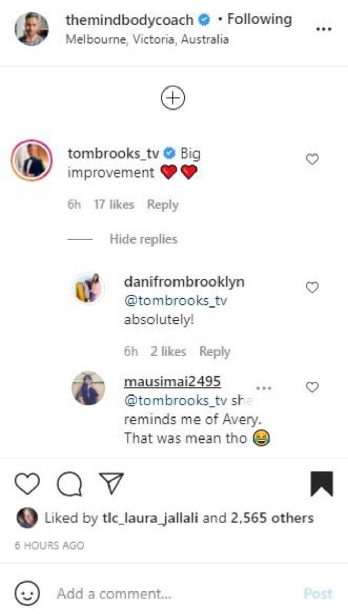 Ash's Instagram posts' comments