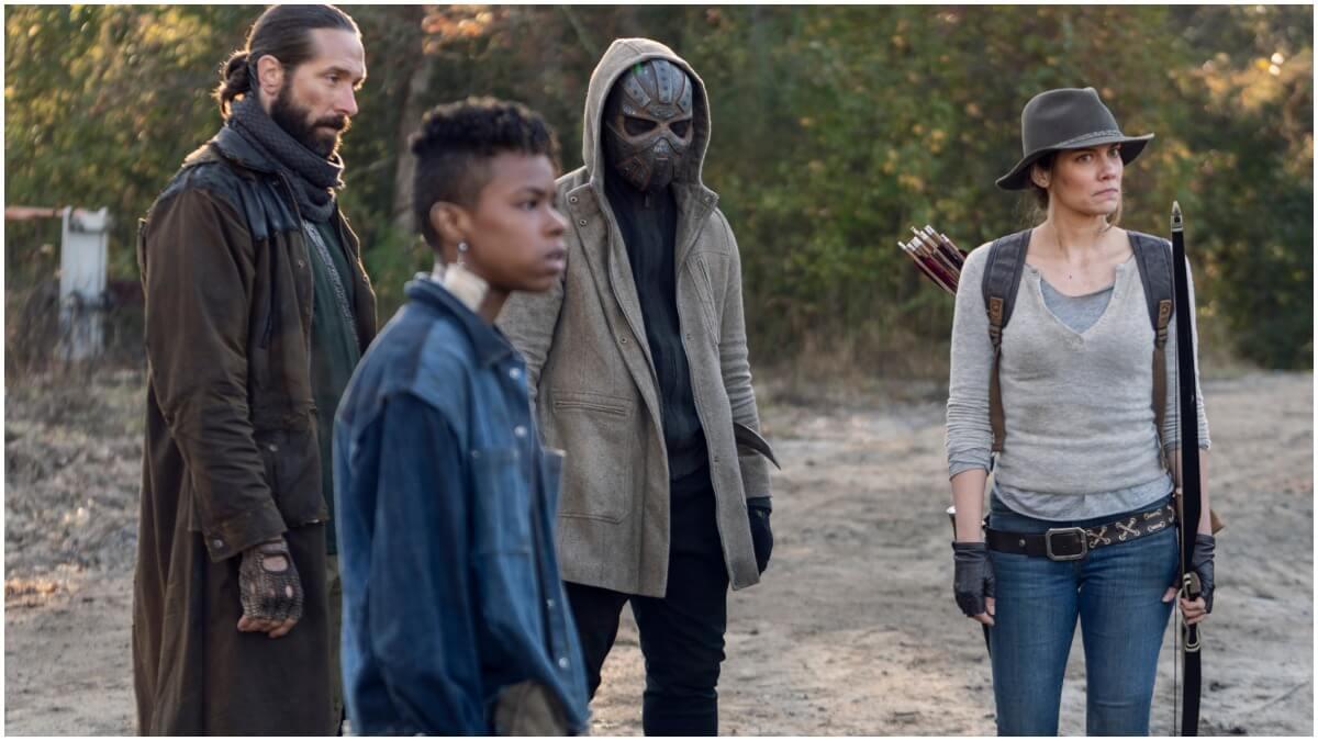 James Devoti as Cole, Angel Theory as Kelly, Okea Eme-Akwari as Elijah, Lauren Cohan as Maggie, as seen in Episode 17 of AMC's The Walking Dead Season 10C