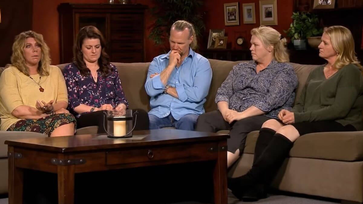 Kody Brown and his four wives on Sister Wives
