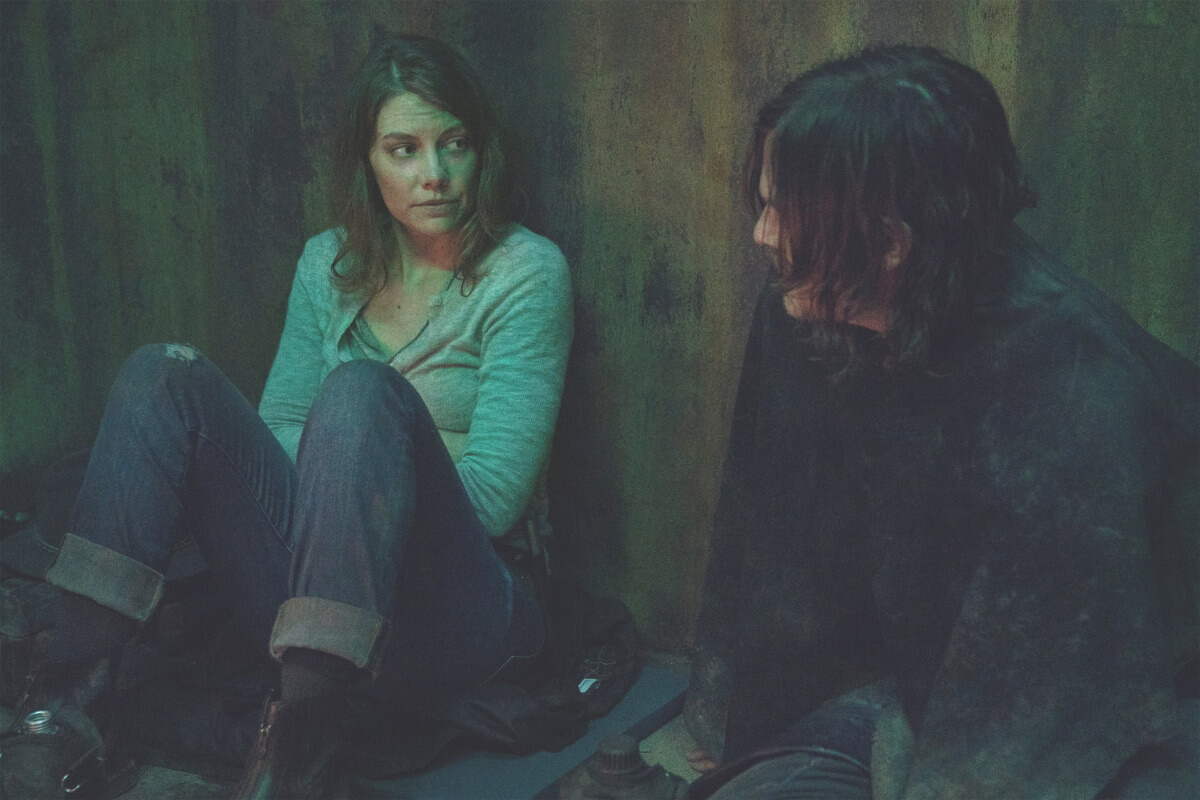 Lauren Cohan as Maggie and Norman Reedus as Daryl Dixon, as seen in Episode 17 of AMC's The Walking Dead Season 10C