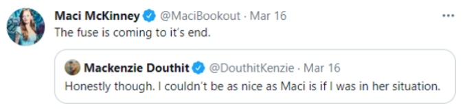 Maci tells followers her patience is running thin.