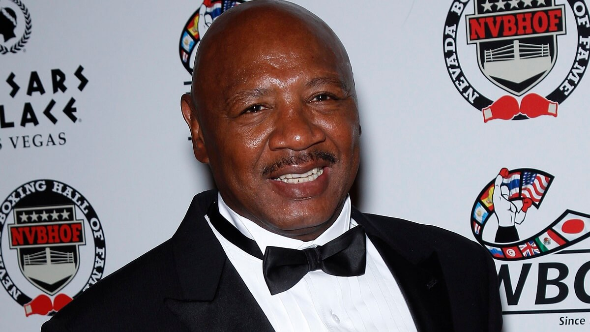 Former middleweight boxing champion Marvelous Marvin Hagler