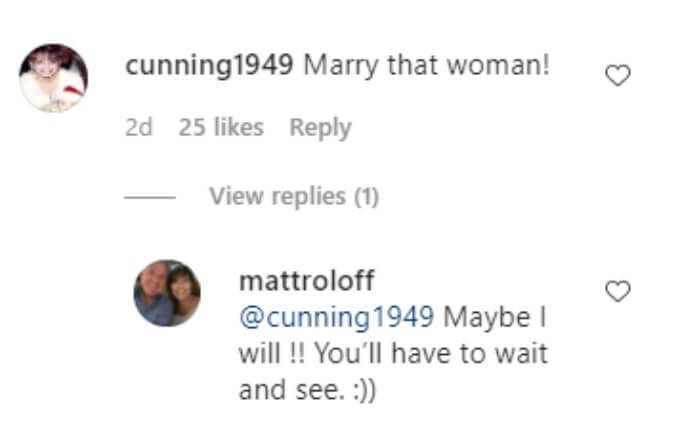 Matt Roloff of Little People Big World on Instagram