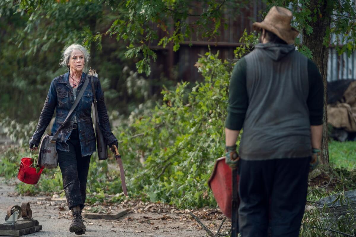 Melissa McBride as Carol Peletier and Cooper Andrews as Jerry, as seen in Episode 21 of AMC's The Walking Dead Season 10C