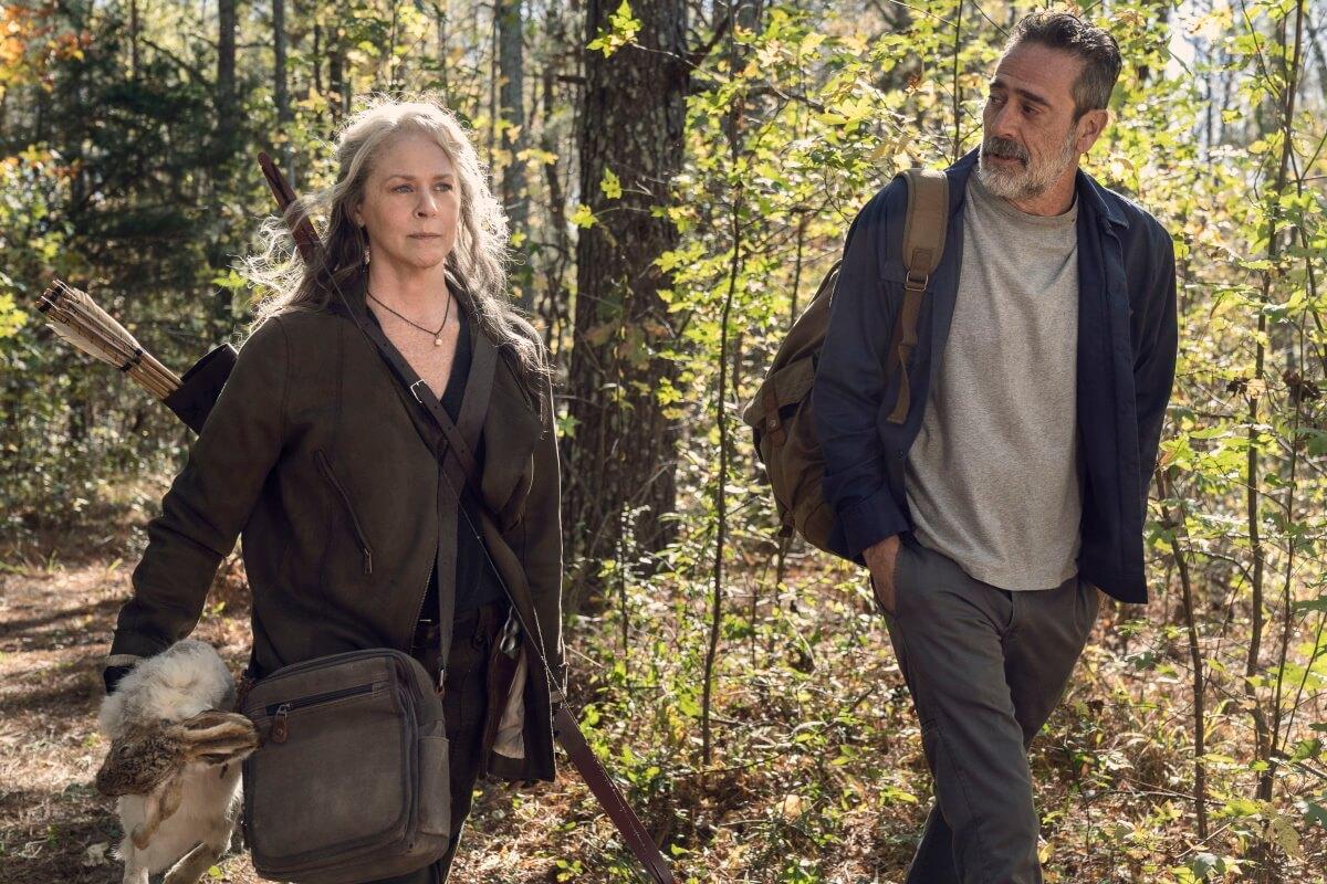 Melissa McBride as Carol Peletier and Jeffrey Dean Morgan as Negan, as seen in Episode 22 of AMC's The Walking Dead Season 10C