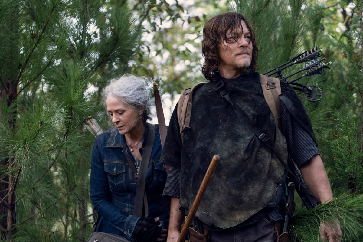 Melissa McBride as Carol Peletier and Norman Reedus as Daryl Dixon, as seen in Episode 18 of AMC's The Walking Dead Season 10C