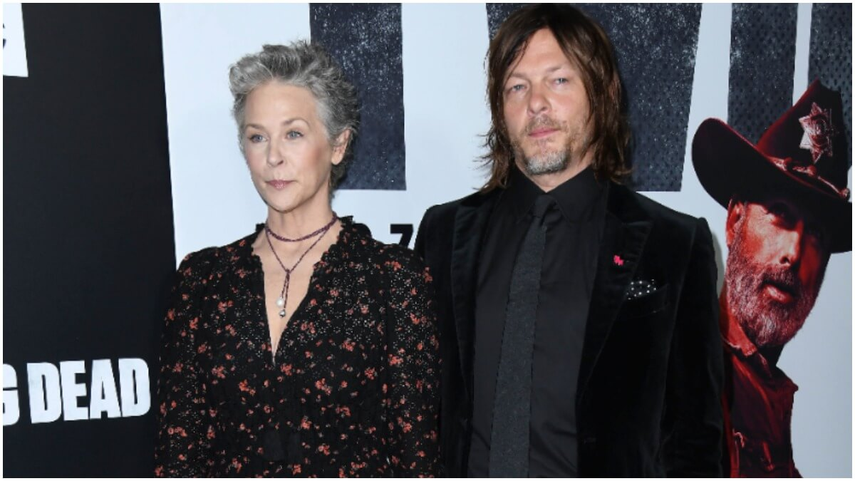 "Melissa McBride and Norman Reedus attend ""The Walking Dead"" Season 9 Premiere in Los Angeles held at DGA Theater"