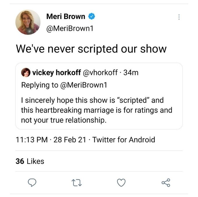 Meri Brown on Twitter