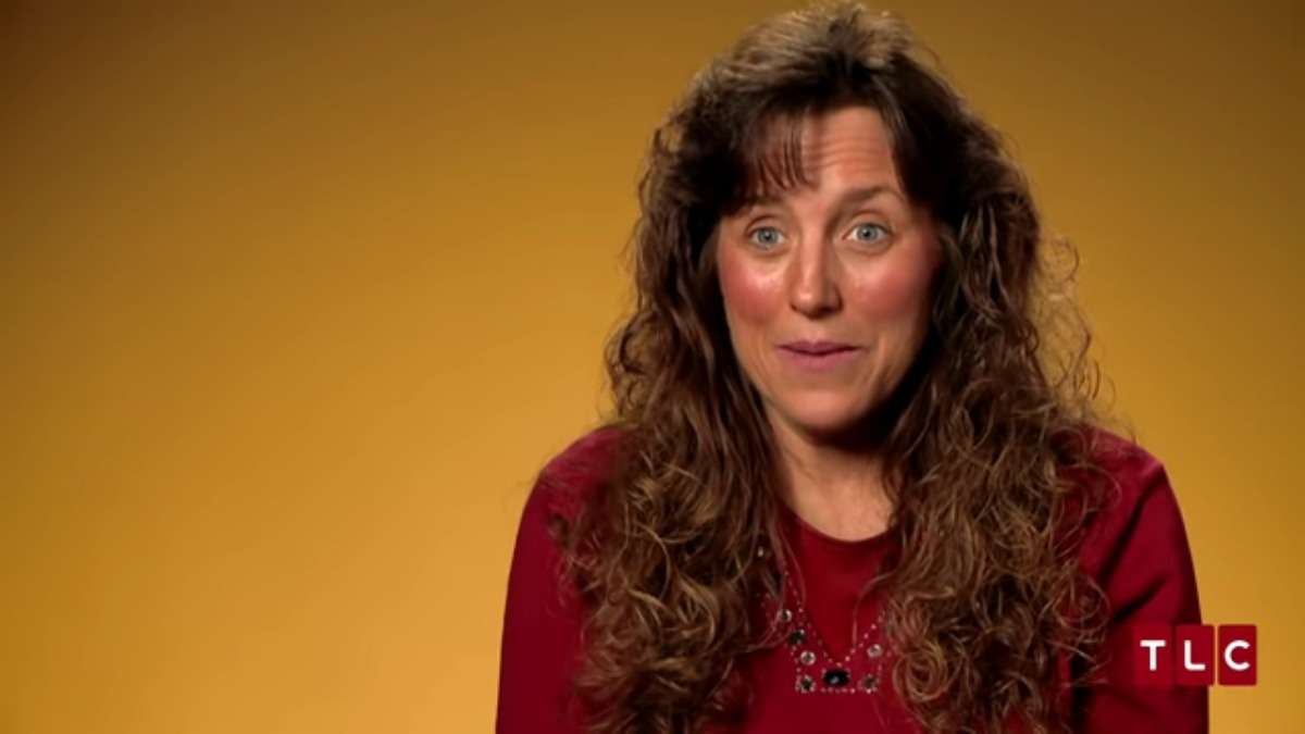 Michelle Duggar in a 19 Kids and Counting confessional.
