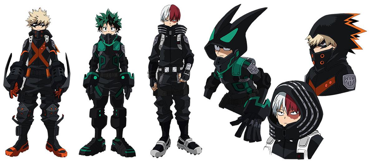 Deku, Bakugo, and Todoroki