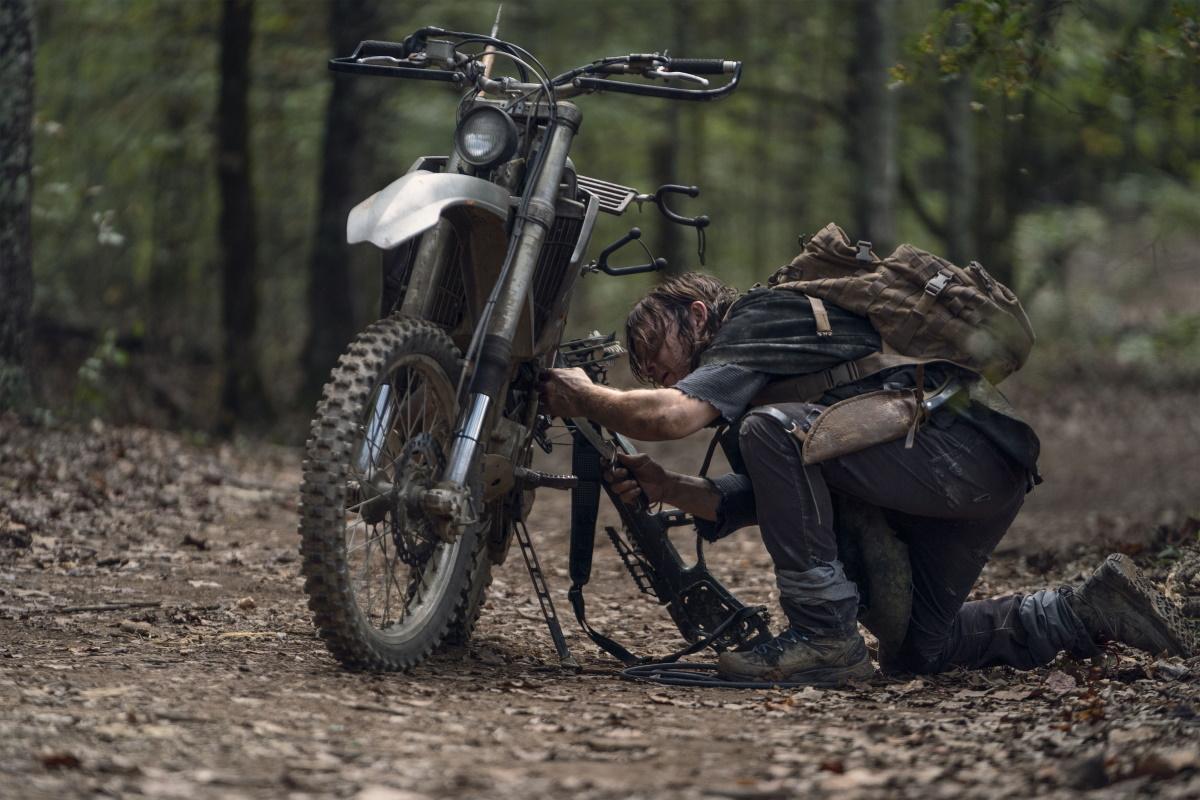 Norman Reedus stars as Daryl Dixon in Episode 21 of AMC's The Walking Dead Season 10C