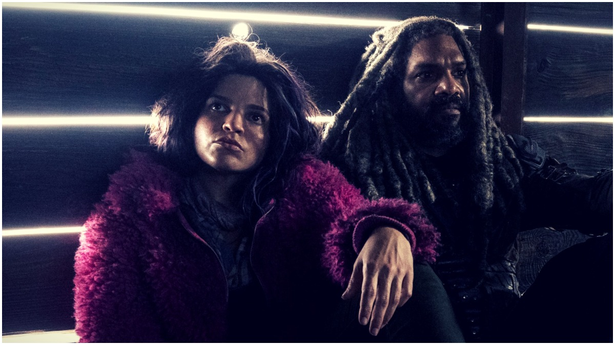 Paola Lazaro as Princess and Khary Payton as Ezekiel, as seen in Episode 20 of AMC's The Walking Dead Season 10C