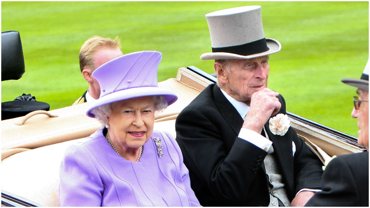 Prince Philip and Queen Elizabeth attend a royal event