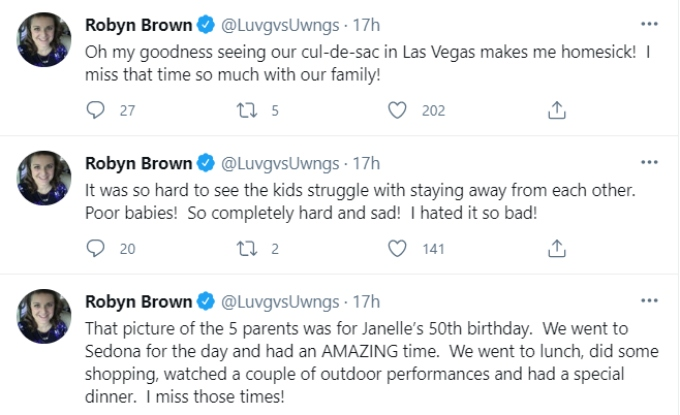 Robyn Brown of Sister Wives on Twitter