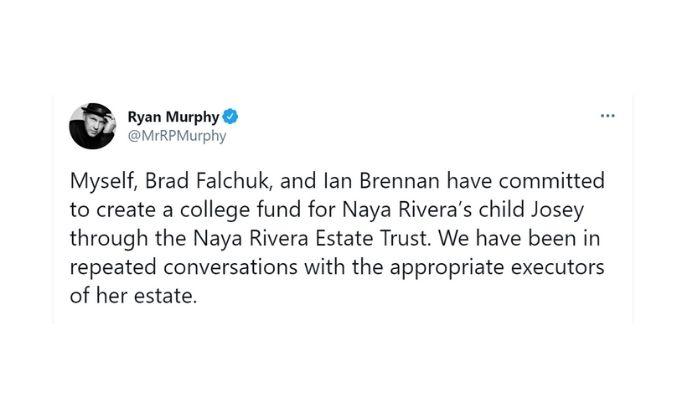 Screenshot of Ryan Murphy's tweet.