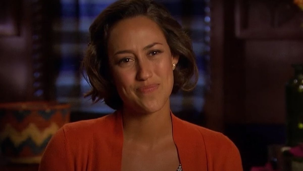 Kelsey Poe during an interview on The Bachelor