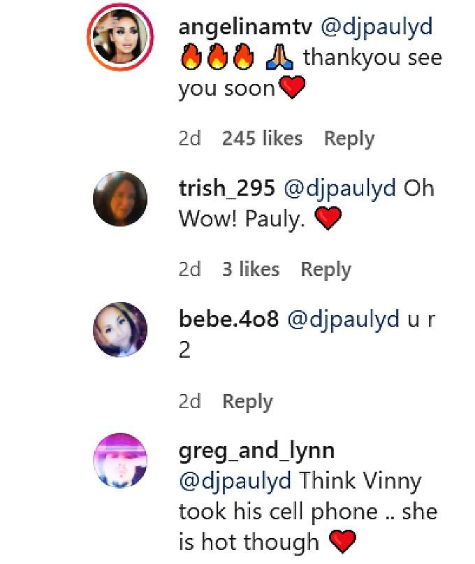 Angelina Pivarnick video comments.