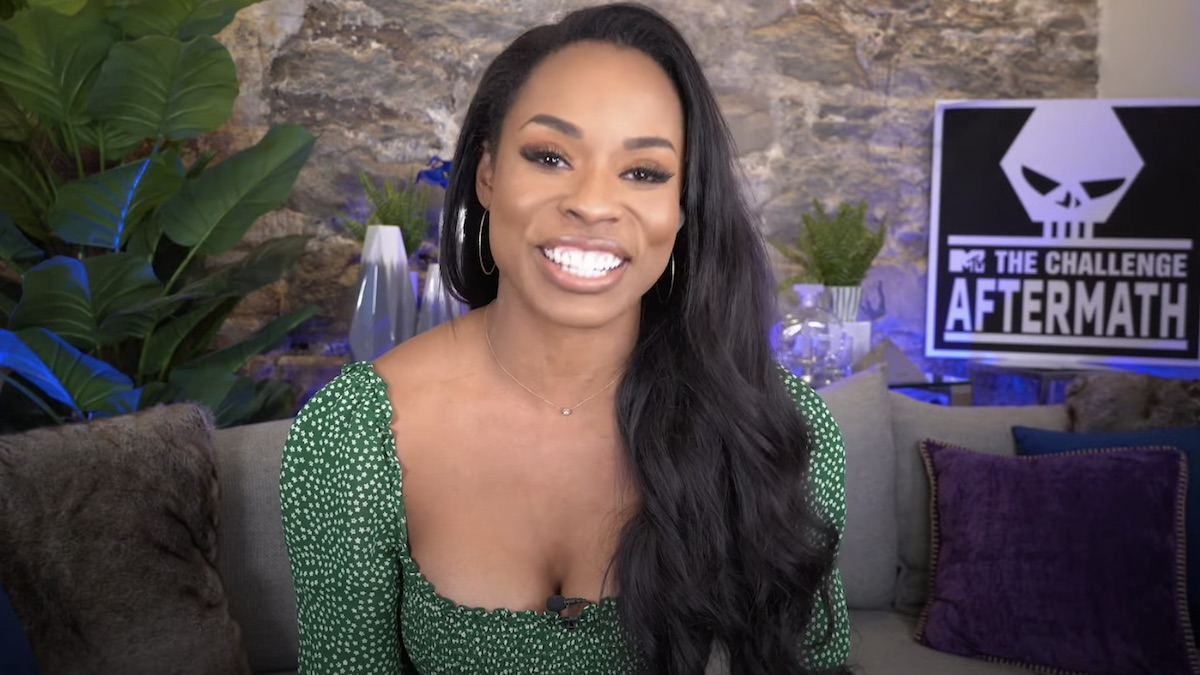 devyn simone while hosting the challenge aftermath show