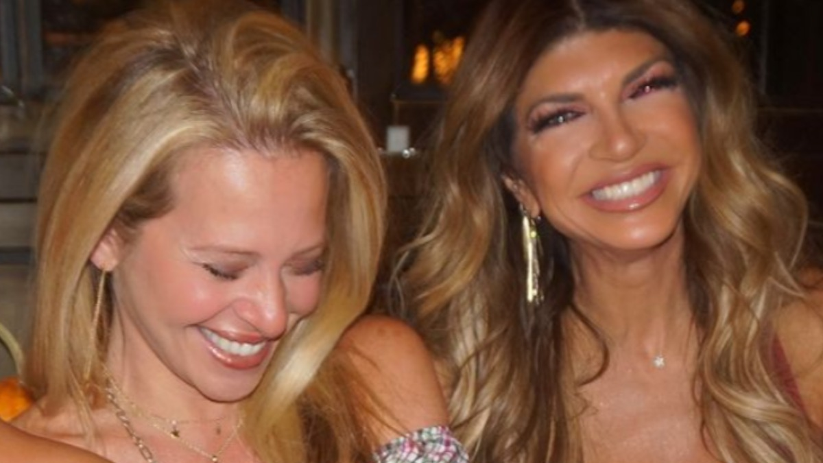 Dina Manzo and Teresa Giudice laugh in an Instagram upload.