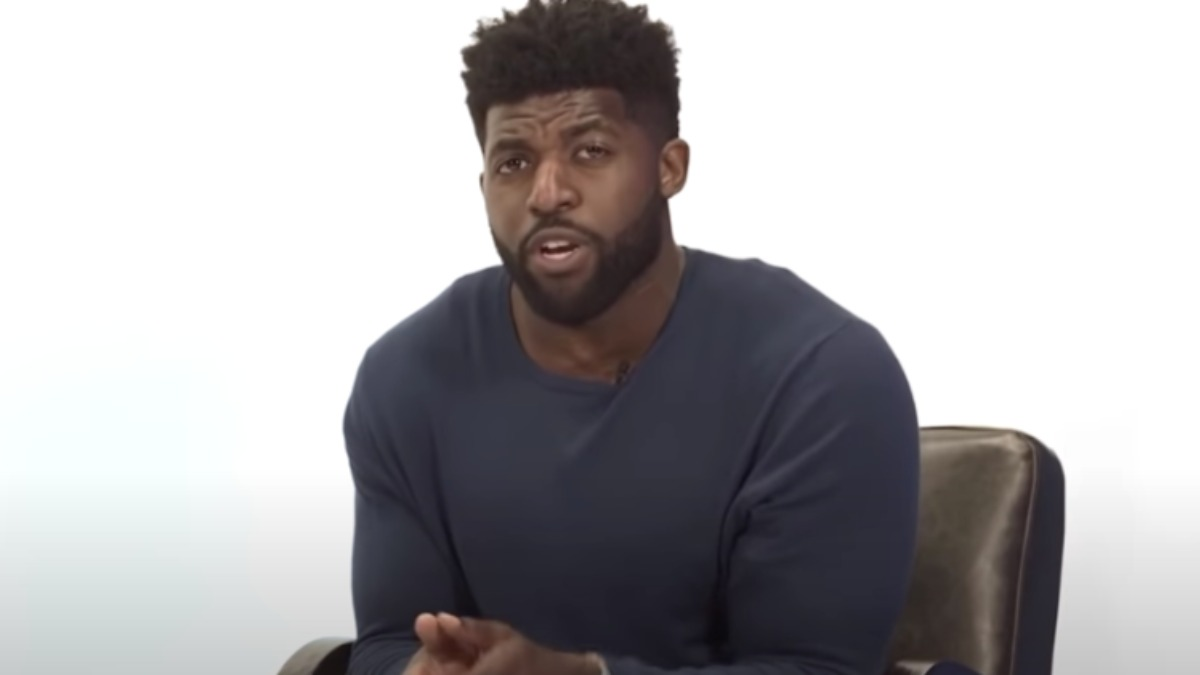 Emmanuel Acho stars on Uncomfortable Conversations with a Black Man.