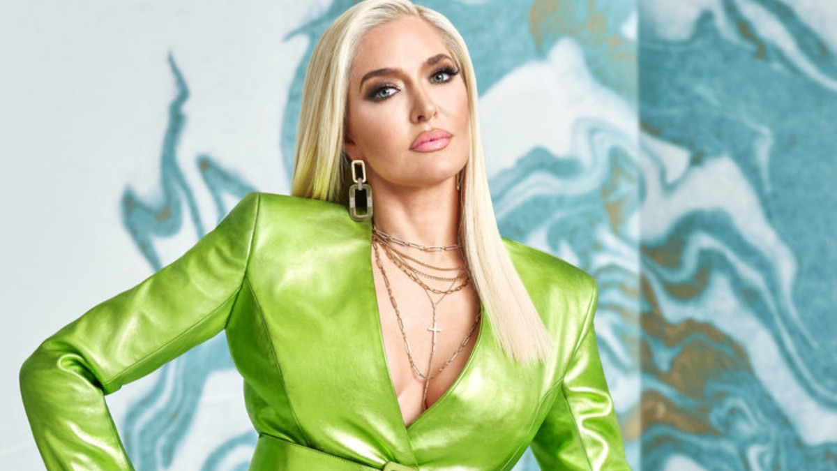 Erika Jayne poses for a promotional photo for RHOBH.