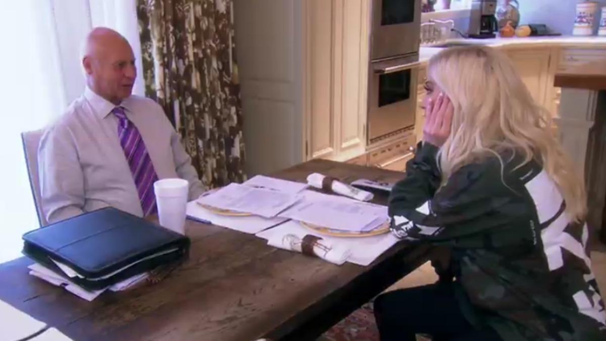 Erika Jayne and Tom Girardi in a scene from RHOBH.