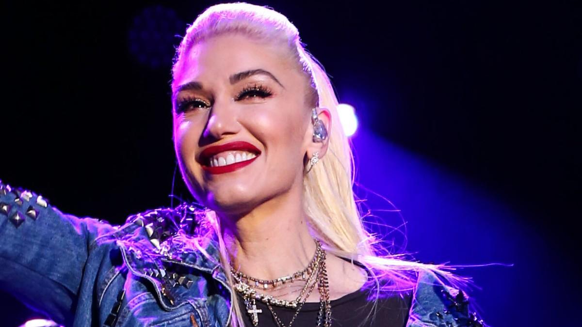 Gwen Stefani performing on stage