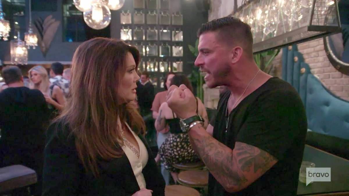 Jax Taylor and Lisa Vanderpump film for Vanderpump Rules.