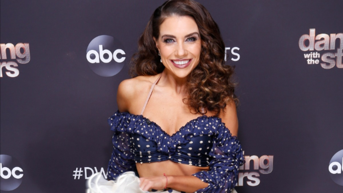 Jenna Johnson on the set of ABC's Dancing with the Stars.