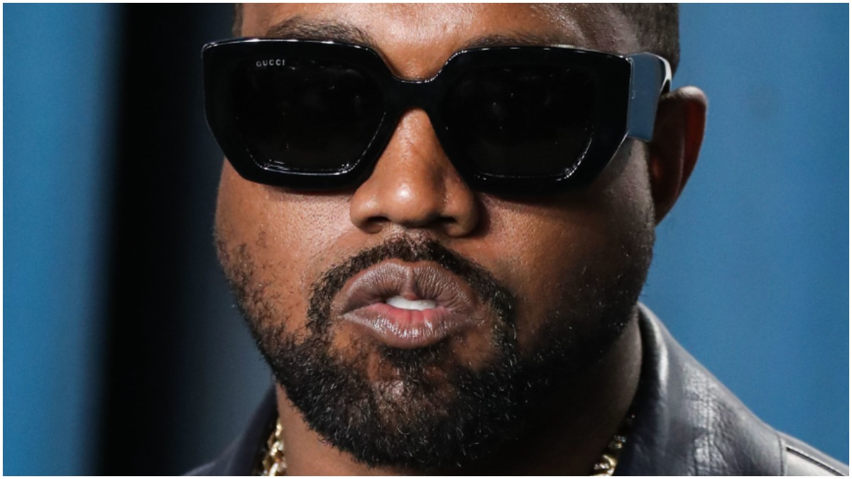Kanye West at the Vanity Fair Oscars party.