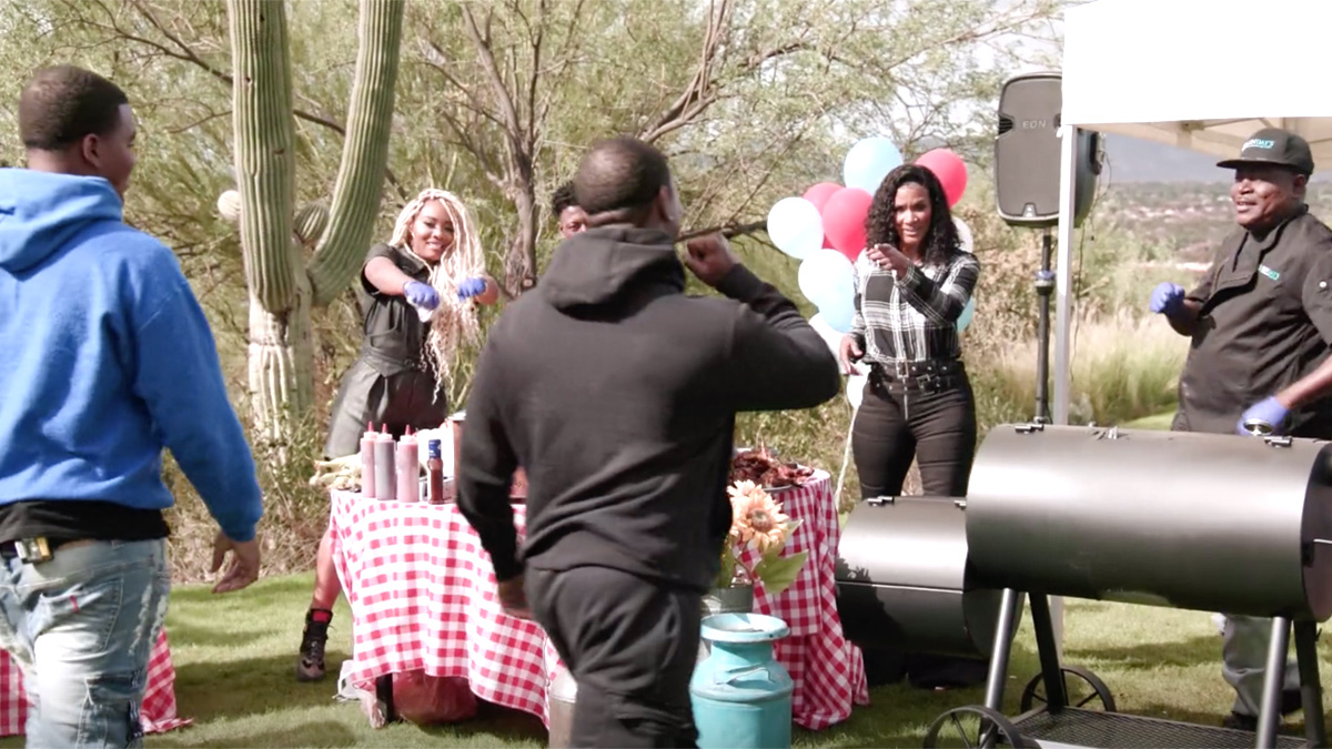 The Family Reunion: Love & Hip Hop cast holding a barbecue at the El Conquistador.