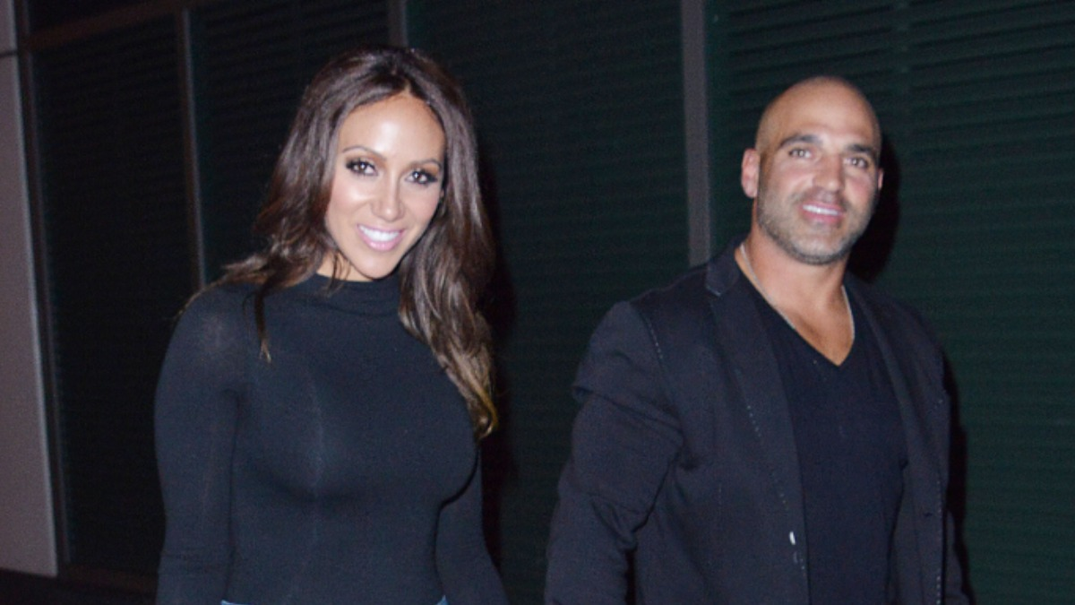 Melissa and Joe Gorga exit a taping of WWHL.